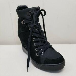 Guess 8M MATTY Wedge Sneakers Black Boots Platform